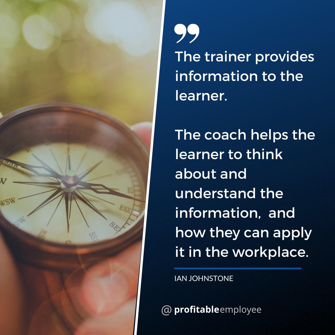 Prof Emp - Training vs Coaching quote